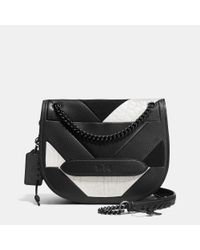 COACH | Black Shadow Crossbody In Pieced Leather | Lyst