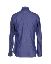 Emanuel Ungaro - Blue Shirt for Men - Lyst