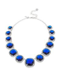 kate spade new york | Blue Basket Pave Collar Necklace | Lyst