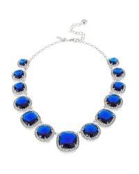 Kate Spade | Blue Basket Pave Collar Necklace | Lyst
