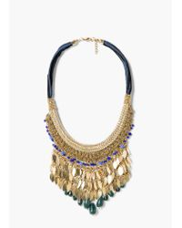 Mango | Metallic Mixed Bead Necklace | Lyst