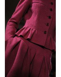 Oscar de la Renta - Purple Three Quarter Sleeve Pleated Jacket - Lyst