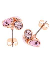 Ted Baker - Pink Lynda Swarovski Crystal Cluster Stud Earrings - Lyst