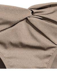 H&M - Gray Bikini Bottoms - Lyst