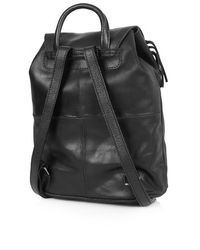 TOPSHOP Black Suede Fringe Backpack