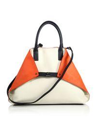 Akris - Orange Ai Medium Convertible Leather Tote - Lyst