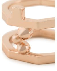 Eddie Borgo - Metallic Double Layered Ring - Lyst