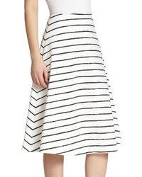 Elizabeth and James White Akemi Striped Skirt