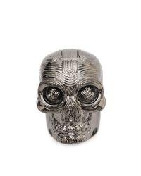 Alexander McQueen - Metallic Diamante Skull Ring - Lyst