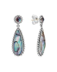 Lagos - Metallic Maya Silver Abalone Teardrop Earrings - Lyst