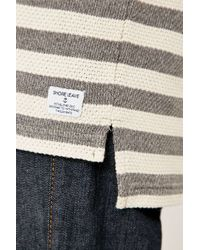Urban Outfitters - Gray Benny Ecru And Grey Waffle Knit Shirt for Men - Lyst