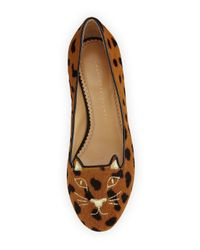 Charlotte Olympia - Multicolor Kitty Face Calf Hair Ballet Flats - Lyst