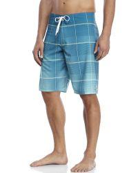 Billabong - Blue All Day Plaid X Board Shorts for Men - Lyst