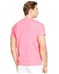 Polo Ralph Lauren - Pink Classic-fit Neon Jersey Pocket Crew-neck T-shirt for Men - Lyst