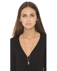 Vita Fede - Pink Big Hex Necklace - Rose Gold - Lyst