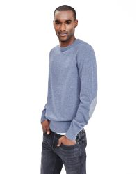 Banana Republic | Blue Elbow-patch Crew Pullover for Men | Lyst