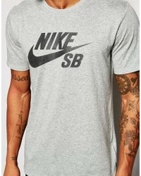 Nike | Gray T-shirt With Large Logo 749630-063 for Men | Lyst