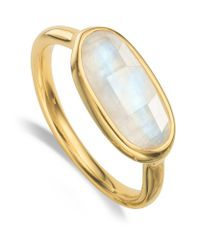 Monica Vinader | Metallic Vega Moonstone Ring | Lyst