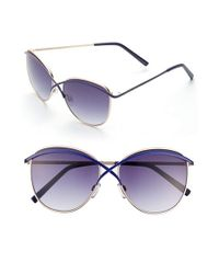 Ivanka Trump | Metallic 57mm Sunglasses | Lyst