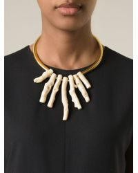Katerina Psoma - Metallic Coral Necklace - Lyst