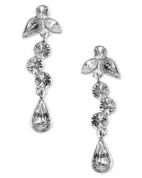 Givenchy | Metallic Silver-tone Crystal Drops | Lyst