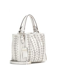 Tod's - White Flower Mini Leather Bag - Lyst