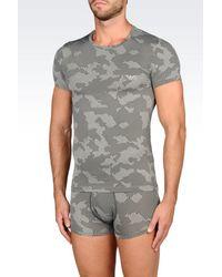 Emporio Armani | Gray Undershirt for Men | Lyst