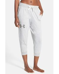Under Armour | Blue Capri Pants | Lyst