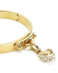 Juicy Couture | Metallic Pave Heart Starter Mini Charm Bangle | Lyst