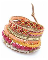 Nakamol - Multicolor Sagaciousness Wrap Bracelet-Ruby - Lyst