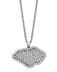 Kimberly Mcdonald - Metallic 18k White-gold Pavé Diamond Pendant Necklace - Lyst