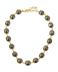 Gurhan - Metallic Lace Silver & Gold Necklace - Lyst