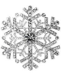 Jones New York - Metallic Silver-Tone Snowflake Pin - Lyst
