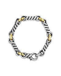 David Yurman | Metallic Cable Twisted Large Link Bracelet With Gold for Men | Lyst