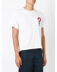 Au Jour Le Jour - White Question Mark T-shirt for Men - Lyst