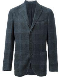 Boglioli - Blue Checked Blazer for Men - Lyst