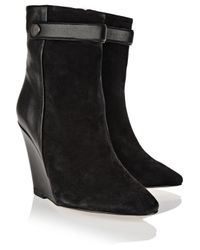 Isabel Marant - Black Purdey Suede And Leather Boots - Lyst