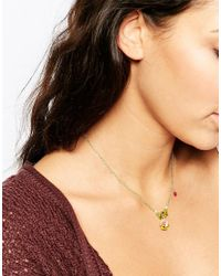 Les Nereides | Green Pansy Necklace | Lyst
