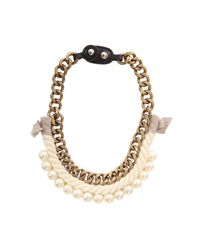 3.1 Phillip Lim | Metallic Rope/pearl Necklace | Lyst