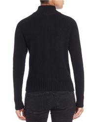 Lord & Taylor | Black Zip-front Cashmere Sweater | Lyst