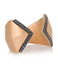 Ileana Makri - Metallic Rhombus Reflection 18-karat Rose Gold Diamond Ring - Lyst