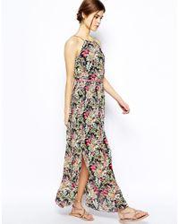 Oasis - Multicolor Tropical Chain Neck Maxi Dress - Lyst