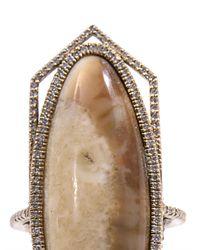 Monique Péan - Metallic Diamond Fossilised Walrus Ivory Ring - Lyst