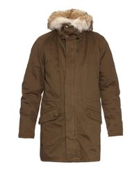 Yves Salomon Natural Rabbit-fur Lined Parka for men
