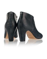 Maison Margiela | Black Textured-leather Ankle Boots | Lyst