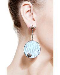 Bochic | Blue Enamel and Diamond Earrings | Lyst