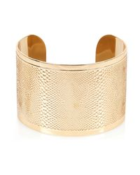 River Island | Metallic Gold Tone Snake Etched Cuff Bracelet | Lyst