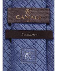 Canali Blue Logo Tie for men