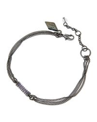 Sequin | Metallic Crystal Chain Barrel Bracelet for Men | Lyst