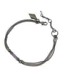 Sequin - Metallic Crystal Chain Barrel Bracelet for Men - Lyst